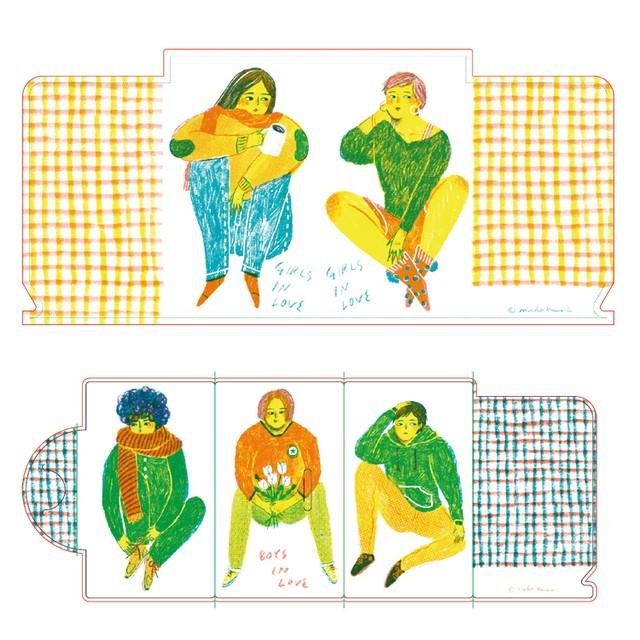 マスクケース(2枚セット):マコ カワイ「GIRLS IN LOVE」「BOYS IN LOVE」
