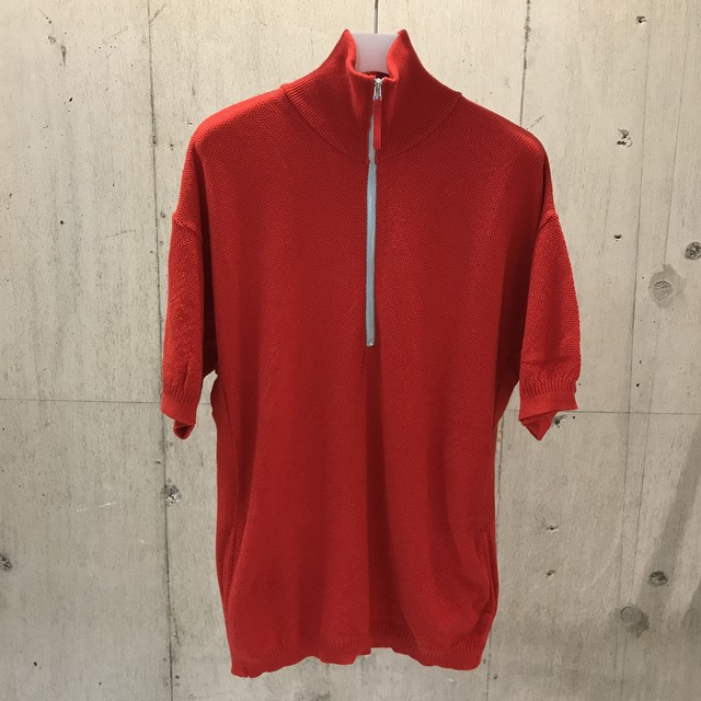 ROTOL HALF ZIP POCKET KNIT RED