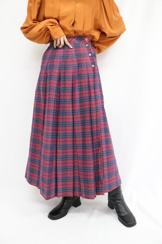 check pattern design skirt / 4SSSK22-02