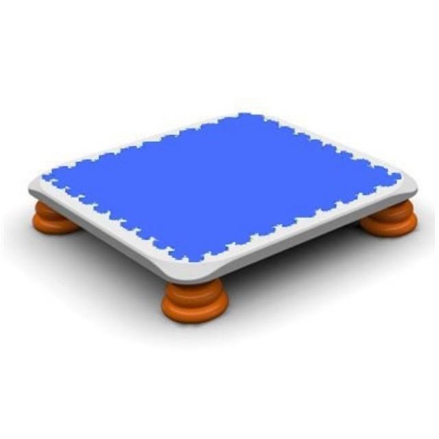 バンバンボード(青色)一般用スプリング 安全 で 音が響きにくい 人気 の 室内・家庭用 の おすすめトランポリン Blue プレゼント