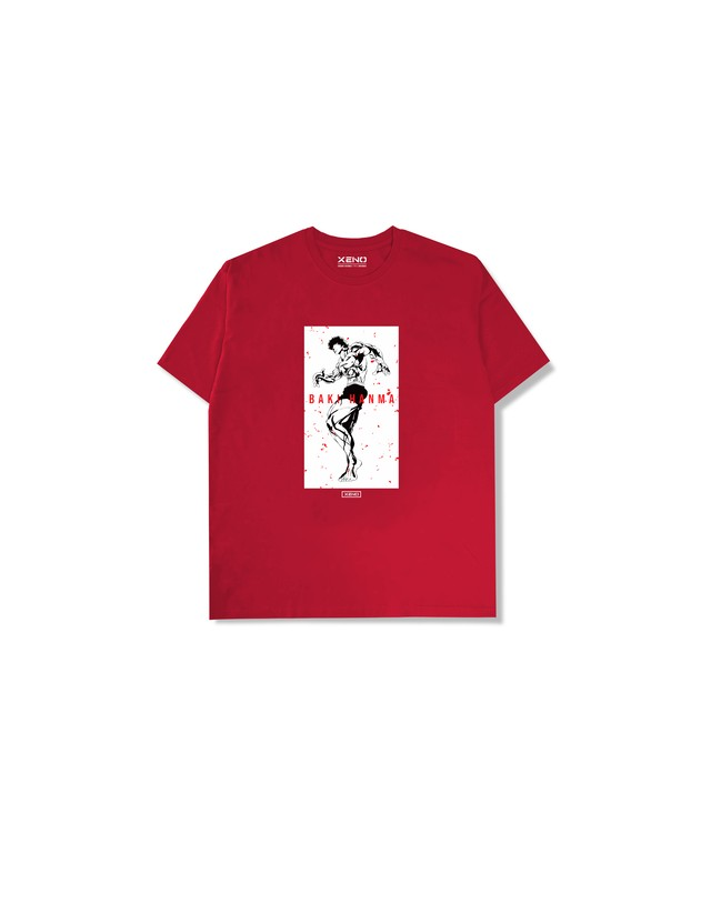 "XENO x BAKI Collaboration T-shirt ""BAKI"" Red"