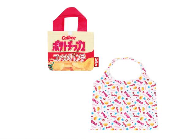 【お菓子シリーズ】 カルビー ポテトチップス コンソメパンチのエコバッグ