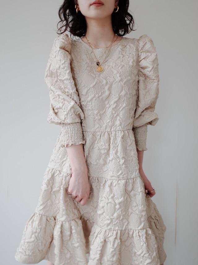 【GHOSPELL】Diffusion Jacquard Mini Dress