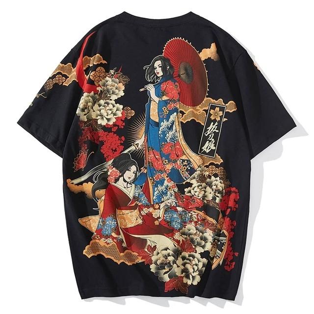 【トップス】半袖花魁ストリート系Tシャツ29341643