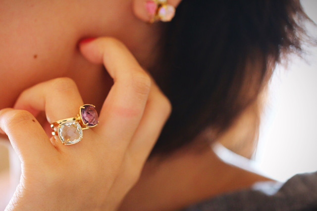 【2個SET10%OFF】quartz rings