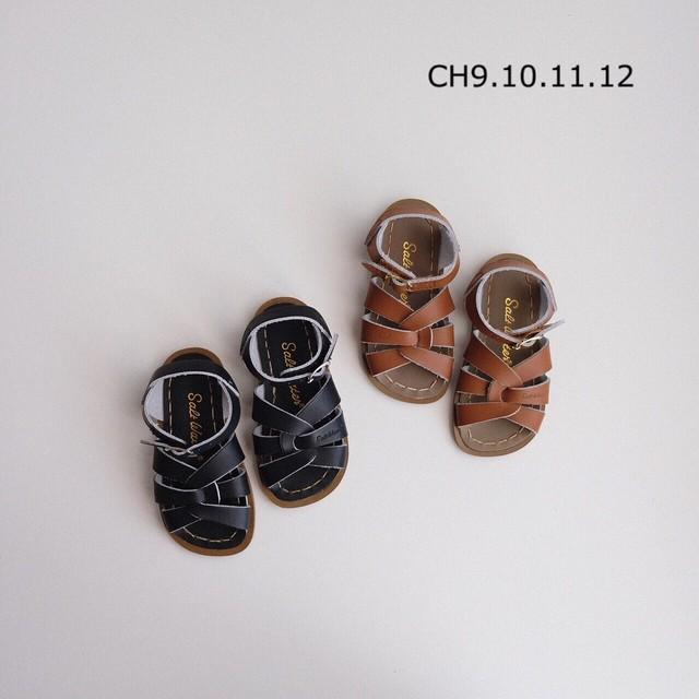 Black US CH12(19.2cm)サイズ ラスト1点 Salt-Water SANDALS ORIGINAL(全2色/US CH9(16.3cm)〜US CH12(19.2cm))