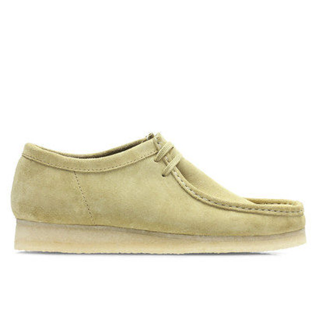 CLARKS  WALLABEE MAPLE SUEDE BROWN