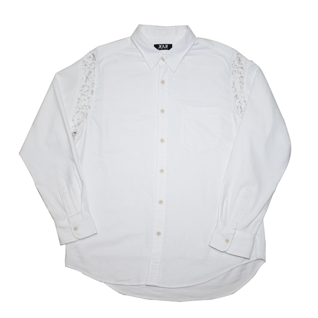 FAF OE laced shirts / white - メイン画像