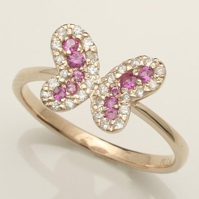 上質天然ダイヤがキラリと輝くダイヤモンドリング♪ 人気サイズ★0.30ct K18