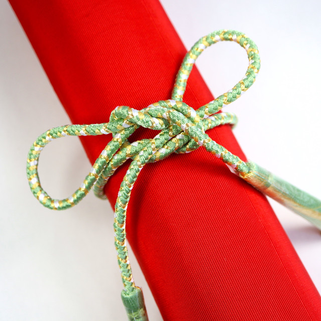 【組紐】ライトグリーン 房付き飾り紐