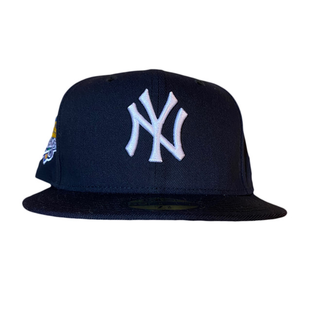 NEW ERA New York Yankees 1999 World Series 59Fifty Fitted / Navy×White (Pink Brim)