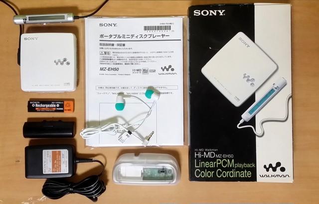 MDポータブルプレーヤー MZ-EH50 Hi-MD MDLP対応 高音質・完動品