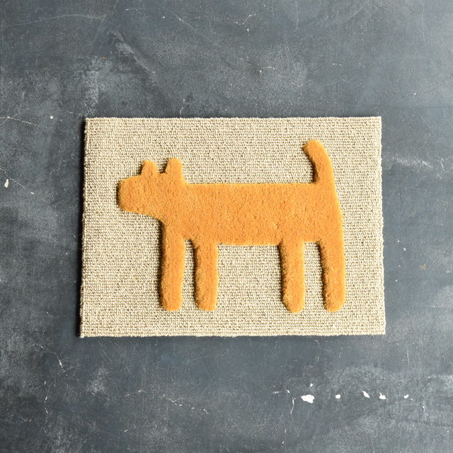 "F/style DOGGY MAT ""HOUSE"" 玄関マット/犬用マット YELLOW"