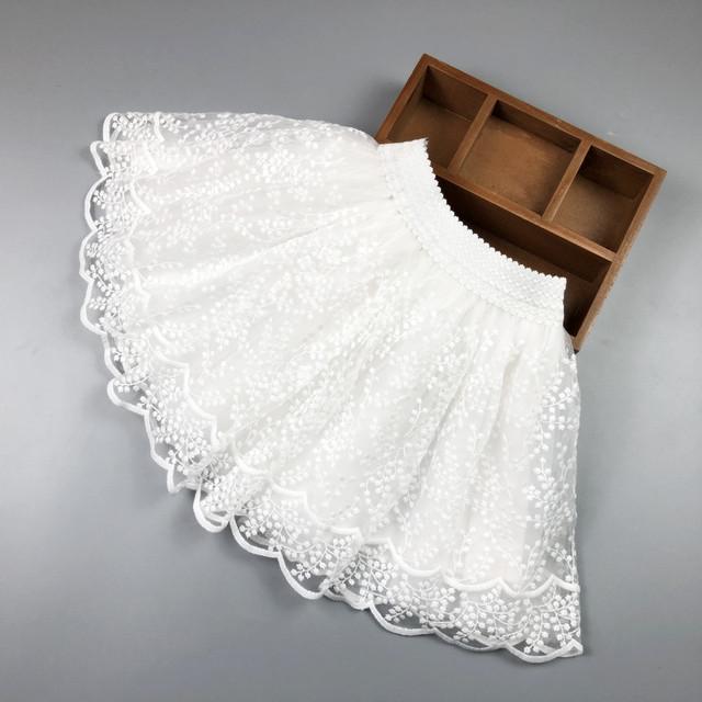 【ボトムス】安くてかわいい ポリエステル レース ドット柄 女の子 スカート24892437
