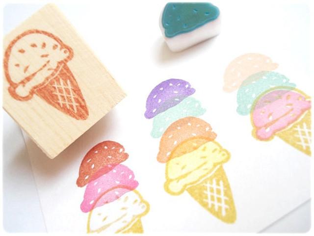 海外風おしゃれスタンプ♡アイスクリーム【nico】