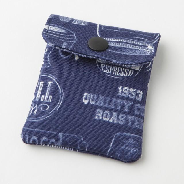 携帯灰皿 おしゃれ かわいい アメリカン カフェ ブルー 48114 熟練職人のハンドメイド インナーリフィル合計2個付属 日本製