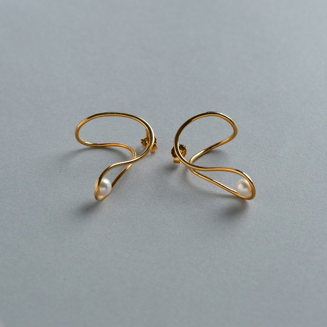 wave pearl ピアス  GOLD