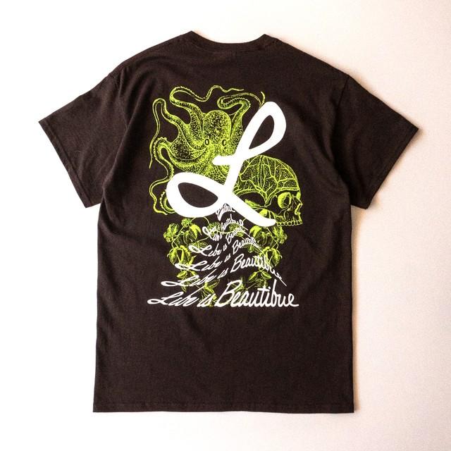 Tシャツ タコ ダークチョコレート(T00013-01)