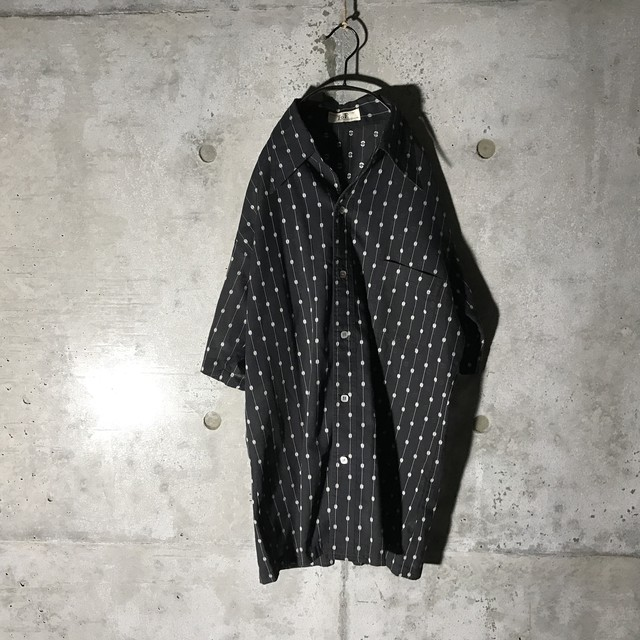 [used] mode dots half shirt
