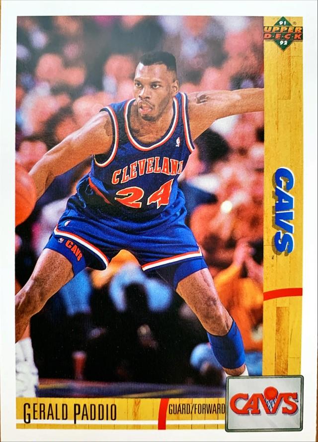 NBAカード 91-92UPPERDECK Gerald Paddio #230 CAVS