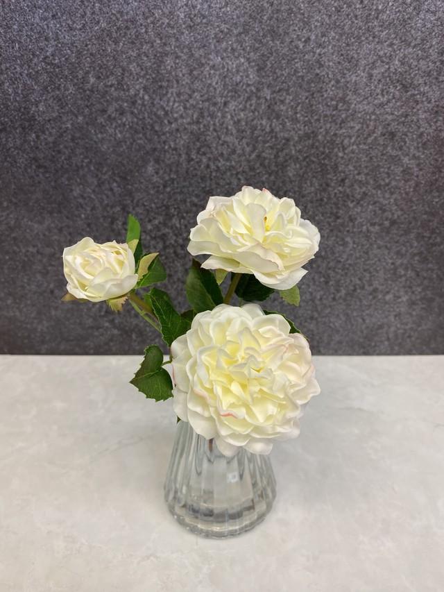 光触媒造花 ローズ ホワイト