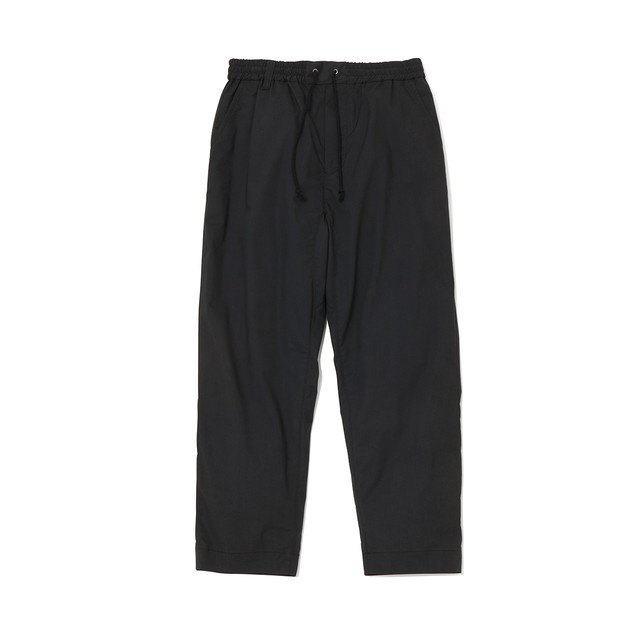TWILL STRETCHED DARTED PANTS - BLACK