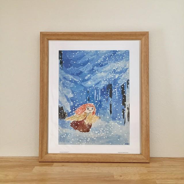 送料無料【ムーミン】4枚セット アートポスター MOOMIN ブルー 北欧ミニポスター