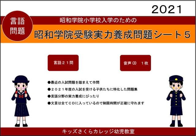 昭和学院小学校受験実力養成問題シート 第3集 「記憶」