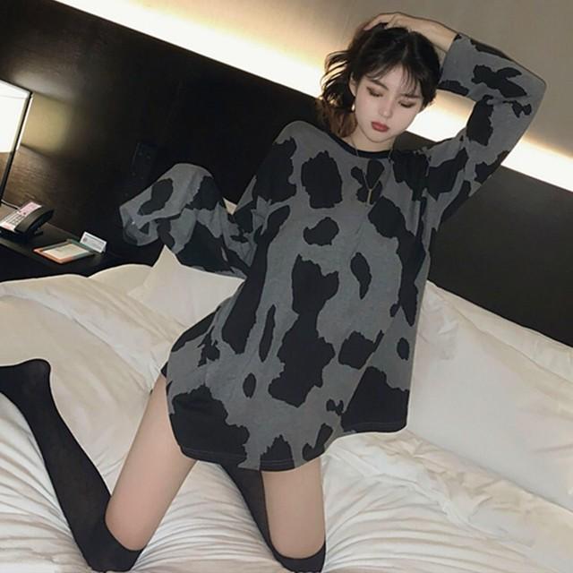 【トップス】シンプルカジュアル薄い生地長袖Tシャツ36503628