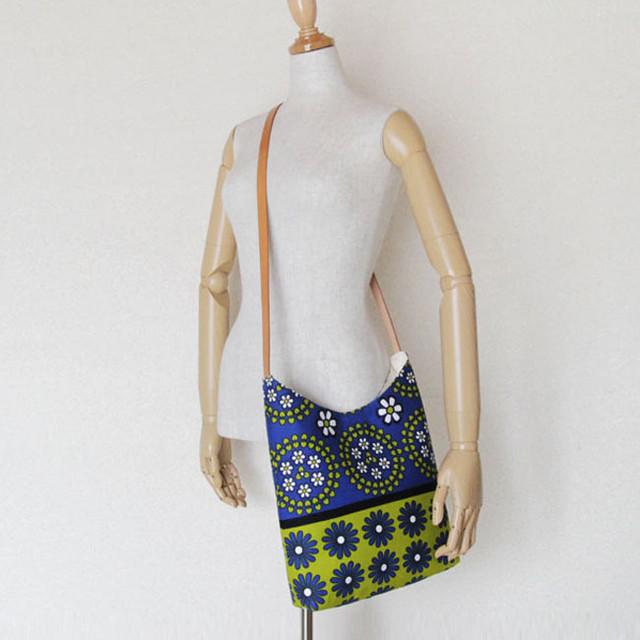 カンガのショルダーバッグ|小さな / アフリカ布バッグ / アフリカンプリント