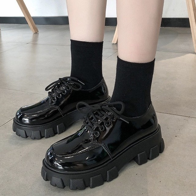 platform leather shoes PD1752