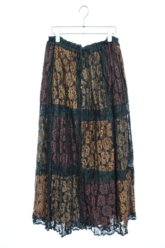 lace design skirt / BLK