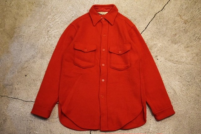USED 80s L.L.Bean Wool shirt -Small S0701