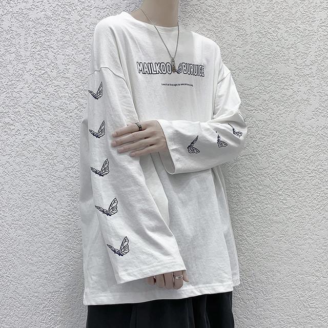 スリーブプリントTシャツ
