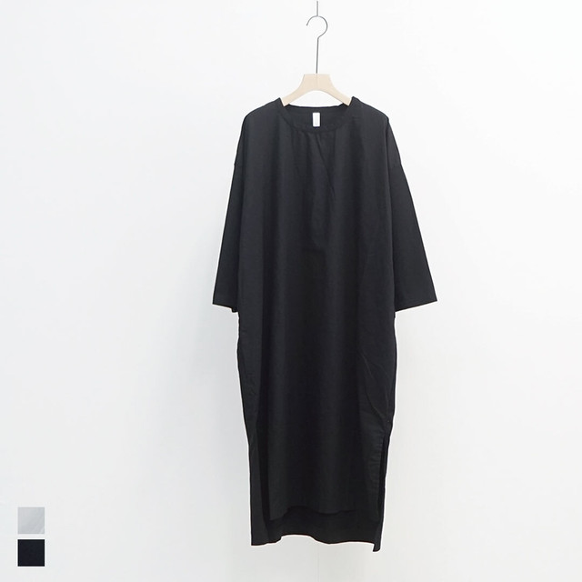 prit プリット 天竺×ブロード7分袖ワンピース (品番p91052)