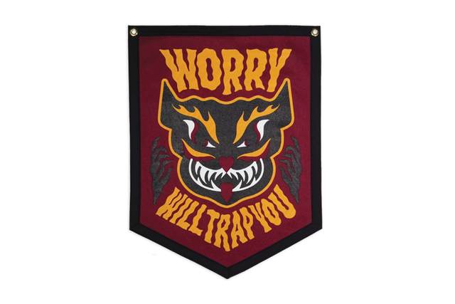 WORRY WILL TRAP YOU Camp Flag
