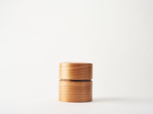 樺細工茶筒 平|さくら