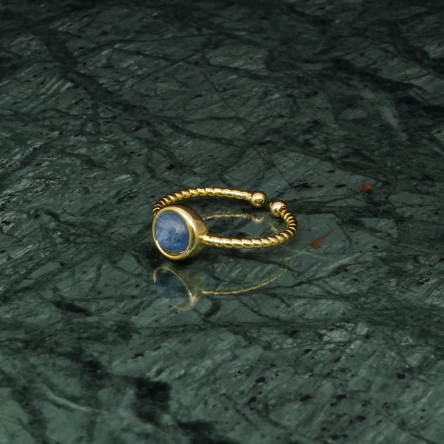 SINGLE MINI STONE RING GOLD 007