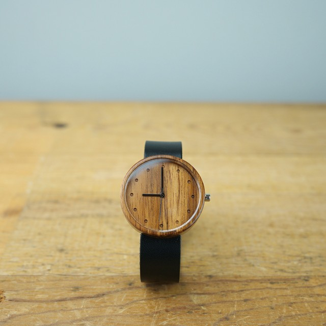 Teak wood - Organic leather - L