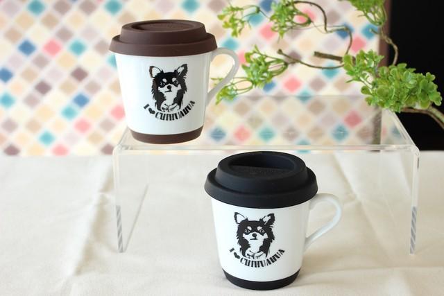Art Dog CHIHUAHUA 蓋つきマグカップ