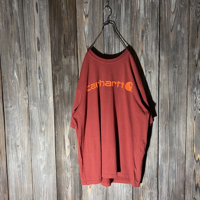 [Carhartt]wine red big logo T shirt