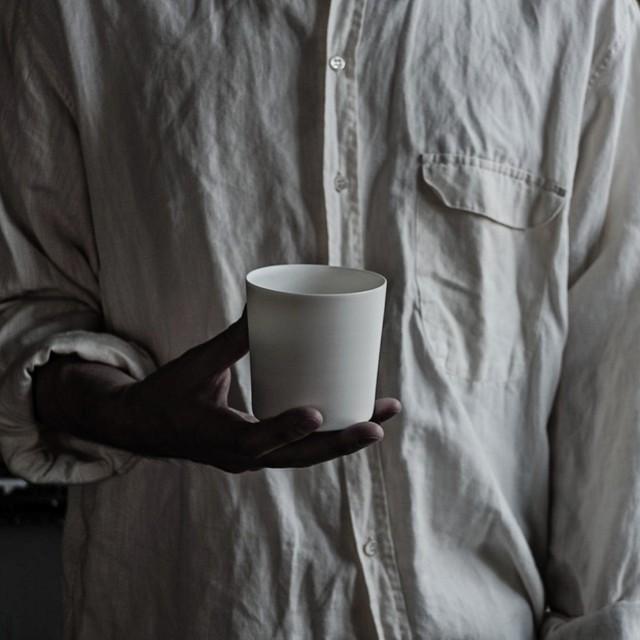 白カップ 1  murakami yuji