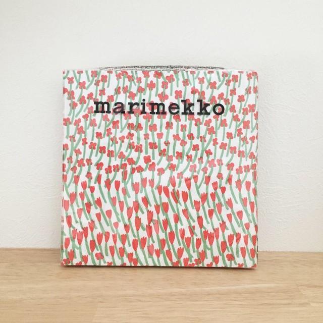 【marimekko】ランチサイズ ペーパーナプキン APILAINEN レッド 20枚入り