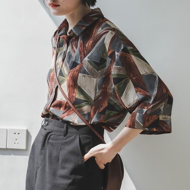 Vintage loose retro shirt(ヴィンテージルーズレトロシャツ)a-646
