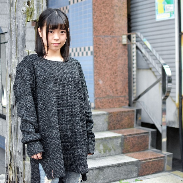 【Deviluse | デビルユース】Knit Crewneck(Black)