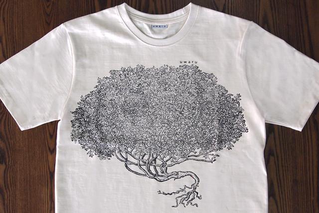 un ハンドプリントTシャツ