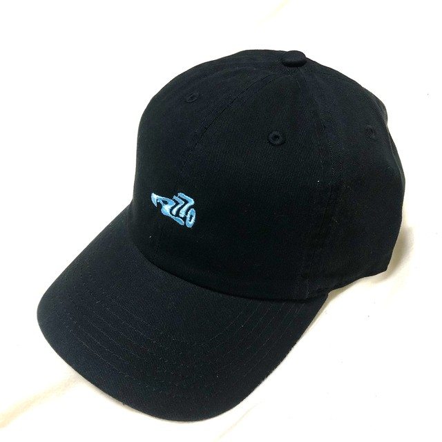 LOGO CAP  /  black×feature blue