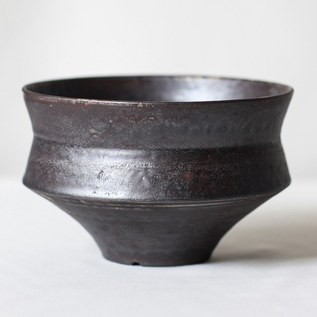 Roughness Black Plants Pot(No,03)※LARGE