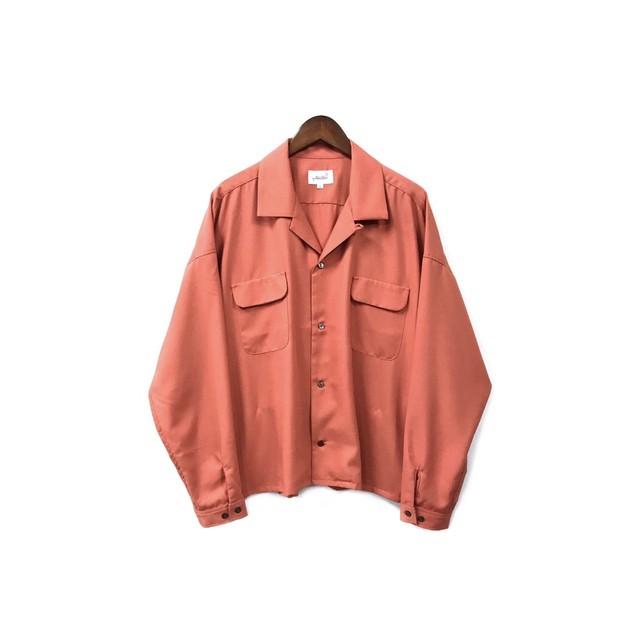 yotsuba - Open Collar Shirt / Smoke Pink ¥18000+tax
