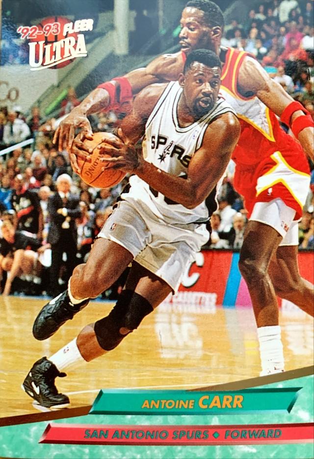 NBAカード 92-93FLEER Antoine Carr #163 SPURS